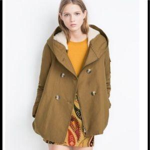 NWOT zara trf double Breasted Jacket size Medium